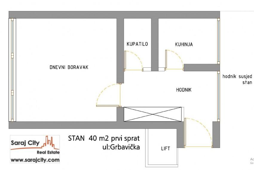 Grbavicka 40 m2