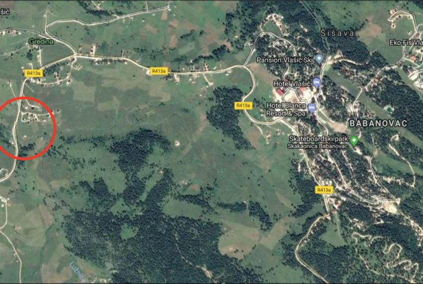 Lokacija objekta na Vlašiću
